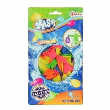 100x gekleurde waterballonnen speelgoed