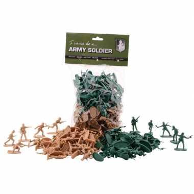 100x plastic soldaatjes speelgoed figuren