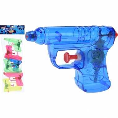 12x waterpistolen/waterpistool gekleurd van 11 cm kinderspeelgoed