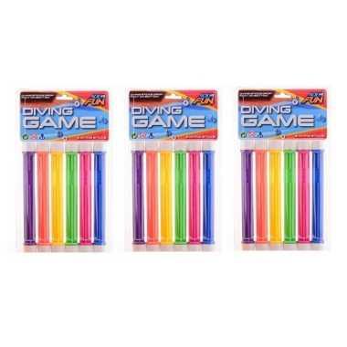 18x gekleurde duikstaafjes/opduik speelgoed 20 cm