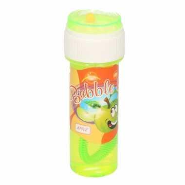 1x bellenblaas met appelgeur 60 ml speelgoed voor kinderen
