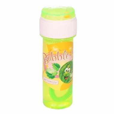 1x bellenblaas met meloengeur 60 ml speelgoed voor kinderen