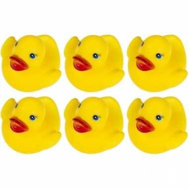 24x badeendjes geel badspeelgoed 5.5 cm