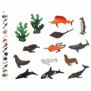 28x plastic boerderij dieren speelgoed figuren 9 cm voor kinderen