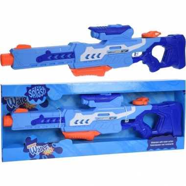 2x waterpistolen/waterpistool blauw van 77 cm kinderspeelgoed
