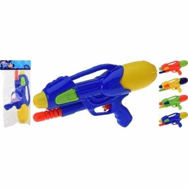 2x waterpistolen/waterpistool oranje van 30 cm kinderspeelgoed