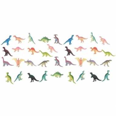 36x plastic speelgoed dinosaurussen 6 cm