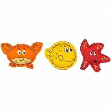 3x gekleurde duikspeelgoed figuurtjes