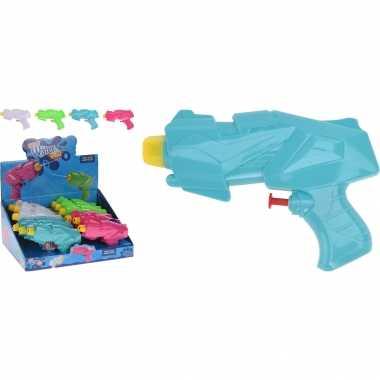 3x mini waterpistolen/waterpistool groen van 15 cm kinderspeelgoed