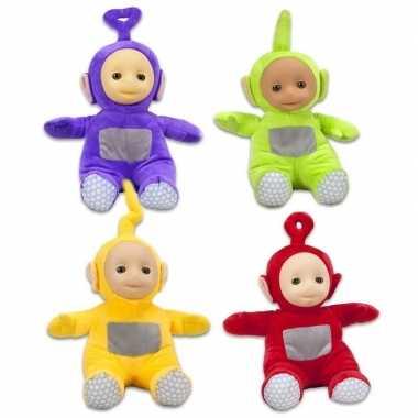 4x teletubbies speelgoed knuffels/poppen set 26 cm