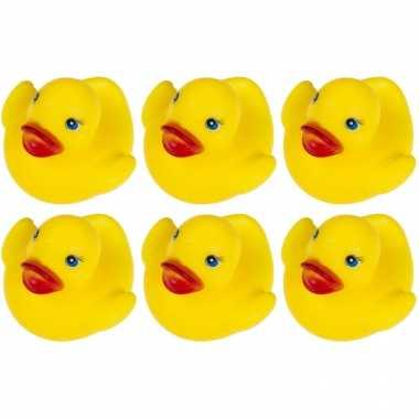 60x badeendjes geel badspeelgoed 5.5 cm