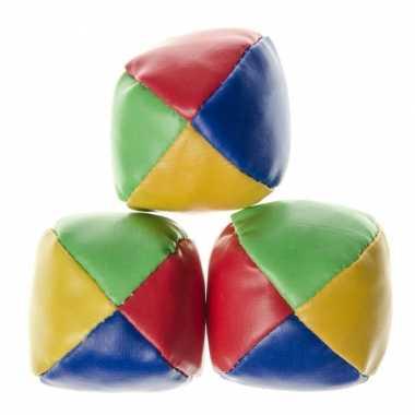 6x stuks jongleerballen gekleurd speelgoed