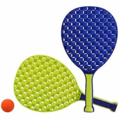 Blauw/groene beachball set buitenspeelgoed