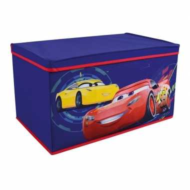 Blauwe cars pixar/disney speelgoed opbergbox 55 cm