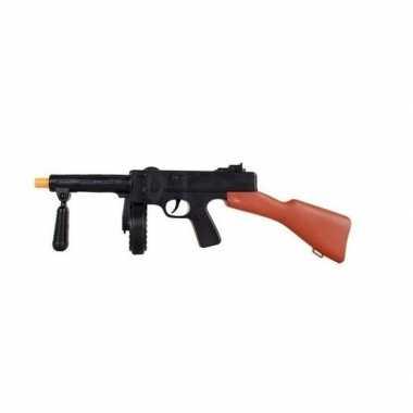 Carnaval speelgoed machinegeweer tommy gun