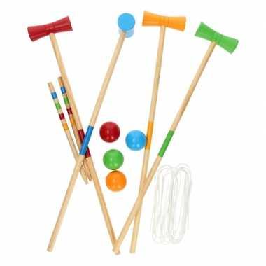 Croquetspel 20-delig buiten speelgoed voor kinderen
