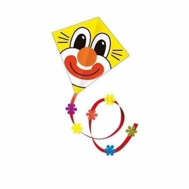 Gekleurd speelgoed vliegertje clown