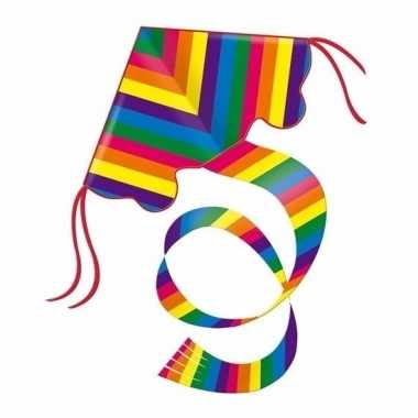 Gekleurd speelgoed vliegertje regenboog