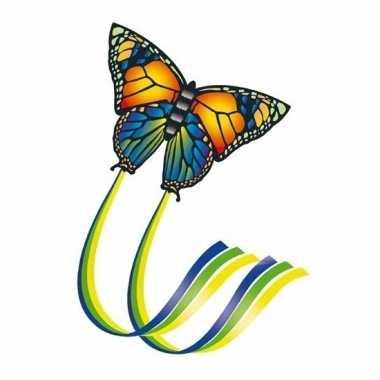Gekleurd speelgoed vliegertje vlinder