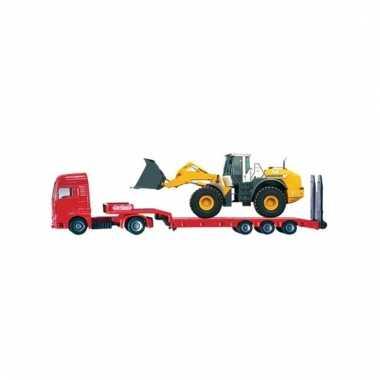 Gele speelgoed dieplader voor kinderen