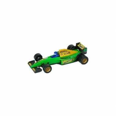 Groene formule 1 speelgoed race auto