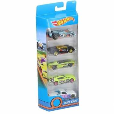 Hot wheels speelgoed race auto set 5 stuks