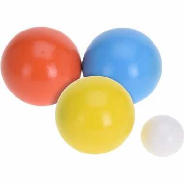 Houten jeu de boules sets met 18 ballen buitenspeelgoed voor kinderen