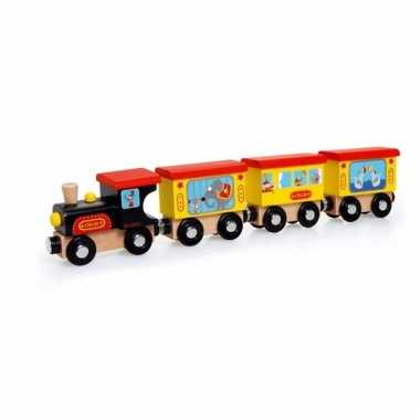 Houten speelgoed circustrein 31 cm