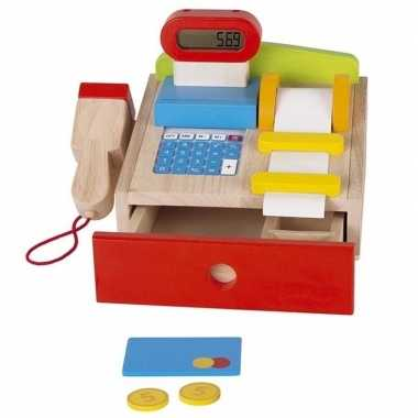 Houten speelgoed kassa voor kinderen