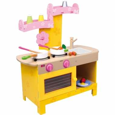 Houten speelgoedkeuken roze 57 x 25 x 64 cm