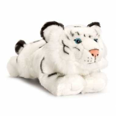 Keel toys pluche witte tijger knuffel 33 cm speelgoed
