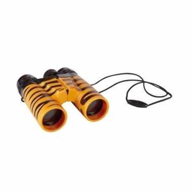 Kinder speelgoed verrekijker tijgerprint 11cm