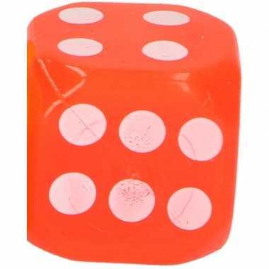 Kinderspeelgoed dobbelsteen oranje led