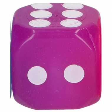 Kinderspeelgoed dobbelsteen paars led