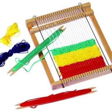 Kinderspeelgoed houten weefgetouw