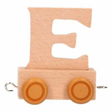 Letter speelgoed treintje e
