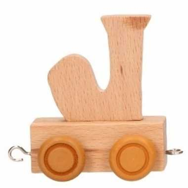 Letter speelgoed treintje j
