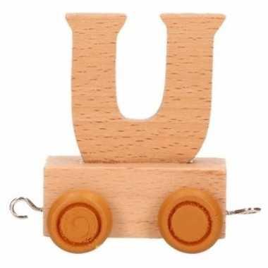 Letter speelgoed treintje u