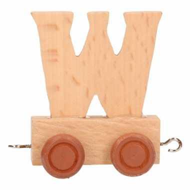 Letter speelgoed treintje w