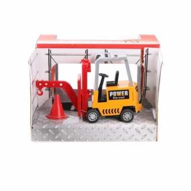 Metalen gele heftruck speelgoed 17 cm 10077617