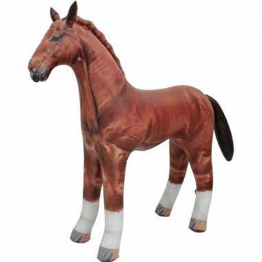 Opblaasbaar paard 75 cm decoratie speelgoed