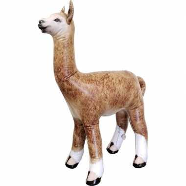 Opblaasbare alpaca lama 75 cm decoratie speelgoed