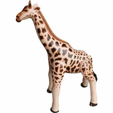 Opblaasbare giraffe 90 cm decoratie speelgoed