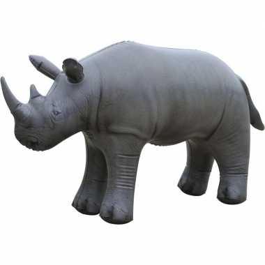 Opblaasbare neushoorn 45 cm decoratie/speelgoed