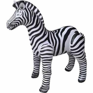 Opblaasbare zebra 140 cm decoratie/speelgoed