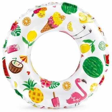Opblaasbare zwemband/zwemring tropisch 51 cm speelgoed