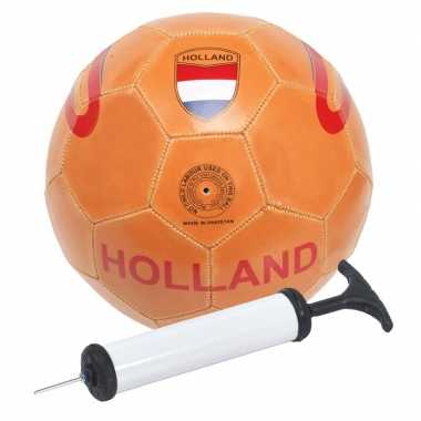 Oranje holland speelgoed voetbal met pomp