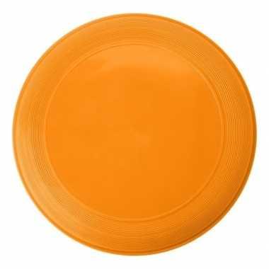 Oranje speelgoed frisbee 21 cm