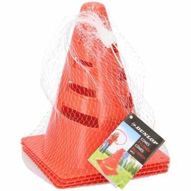 Oranje speelgoedpionnen 4 stuks