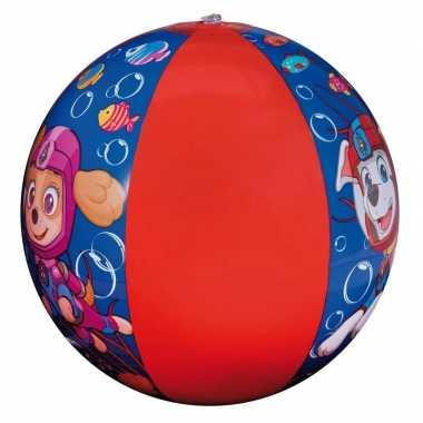 Paw patrol opblaasbare speelgoed strandbal blauw/rood 40 cm